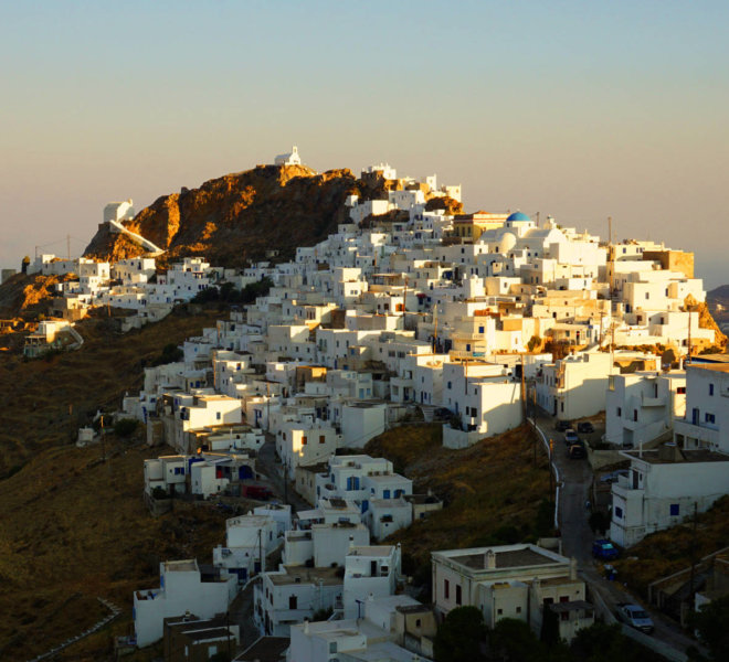 Photo of picturesque island of Serifos with clear water beaches, Cyclades